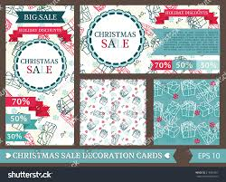 set decorative cards wrapping paper stock vector