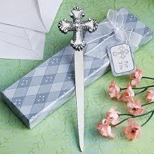 communion favors cross design letter opener christening favors confirmation favors
