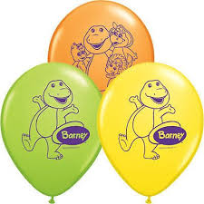 barney dinosaur latex balloons latex balloons birthdays