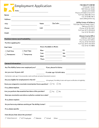 Proof Of Employment Template 11 Application Form For Employment Template Basic Job