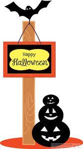 halloween clipart halloween hanging sign post pumpkin bat clipart