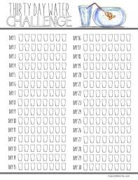 And Water Challenge 30 Day Water Challenge Printable Meal Prepping Planning
