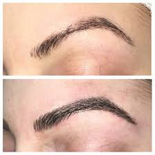 Hair Stroke Eyebrow Tattoo Nyc Micro Blading Chicago Flawless Permanent Makeup By Elsa