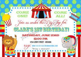 circus invitations free templates futureclim info