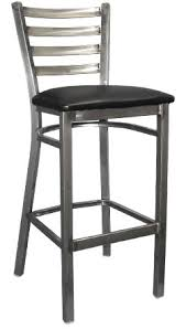 Bar Stool With Back Asf 91316 Cc Metal Ladder Back Barstool Clear Coat