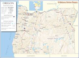 map of oregon us reference map of oregon usa nations project map of oregon