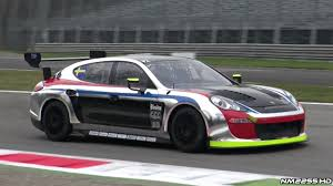 stanced porsche panamera loud porsche panamera race car sound on track youtube