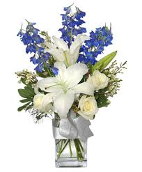 florist augusta ga crisp winter skies flower arrangement in augusta ga amelia s buds