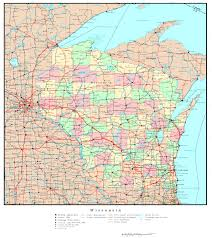 Green Lake Wisconsin Map by Wisconsin Base Map