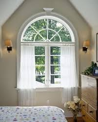 Window Treatment Ideas For Living Room by Half Circle Window Curtains Arched Windows Curtains On The Hooks