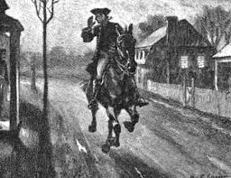 midnight ride of paul revere coloring pages