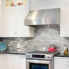 Kitchen Backsplash Peel And Stick Peel U0026 Stick Stainless Steel Tile Platino For Kitchen Backsplash