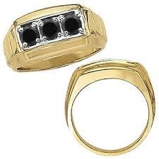 ring design men 1 carat black diamond three design men ring 14k white yellow