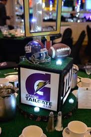 Football Banquet Centerpiece Ideas by New York Giants Centerpieces For Football Bar Mitzvah By The Event