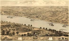 bird u0027s eye view of capital of missouri jefferson city from 1869