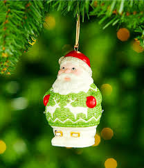 lenox sweater santa light up ornament dillards