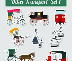 different cartoon transportation tool vector 02 vector traffic
