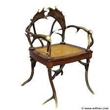 Armchair For Sale An Antique Black Forest Antler Armchair For Sale At Artfour Com