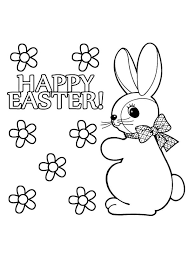 print coloring image easter bunny easter bunny