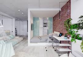 Design Studio Apartment by 4 Bright Studio Apartments With Creative Bedroom Placement
