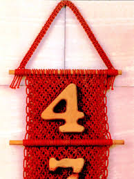 Macrame Home Decor by Macrame Wall Hanging House Number Wall Hanging Home Decor