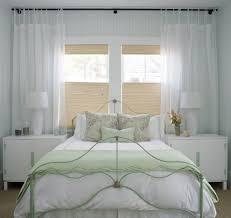 impressive bedroom window treatment ideas with beige ceiling