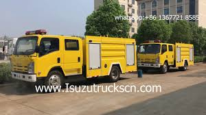 japan brand elf isuzu 4hk1 tcg40 engine 7000l fire fighting truck