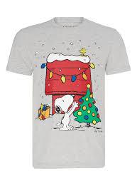snoopy christmas shirts mens grey christmas snoopy t shirt tu clothing