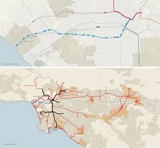 Metro Line Map Los Angeles by A Warmer Fuzzier Los Angeles The New York Times