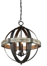 Littman Lighting Artcraft Lighting Castello Aspen Wood Chandelier Rustic