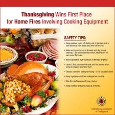 iaff frontline tips for a safe thanksgiving