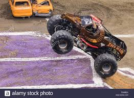 zombie monster jam truck new orleans la usa 20th feb 2016 zombie hunter monster truck