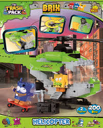 helicopter trash pack brix kids wiek cobi toys