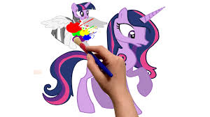 mlp twilight sparkle my little pony coloring for kids