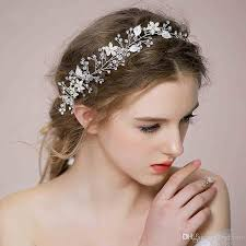 cheap hair accessories 2015 new style bridal hair accessories hair band silver gold