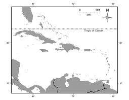 Central America And The Caribbean Map by Caribbean Island Biogeography