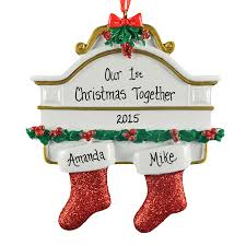 our 1st together on mantle ornament