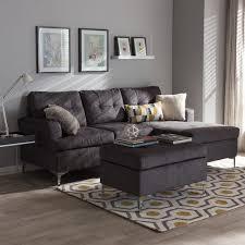 baxton studio haemon grey 3 piece sectional sofa set free