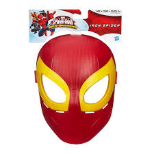marvel ultimate spider man iron spider mask toys