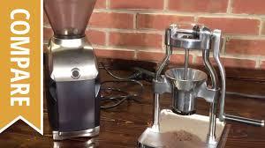 Manual Coffee Grinders Compare Baratza Virtuoso And Rok Manual Coffee Grinder Youtube