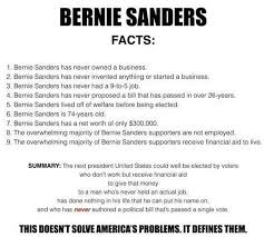 All About Meme - these are the facts about bernie sanders no one talks about meme
