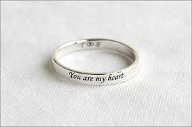 stackable engraved mothers rings stackable rings name rings stacking rings personalized
