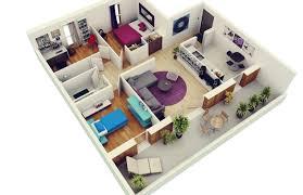 3 bedroom apartmenthouse plans house floor 2 bath 3d la luxihome