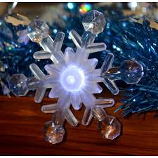 set of 8 battery operated led musical snowflake twinkling