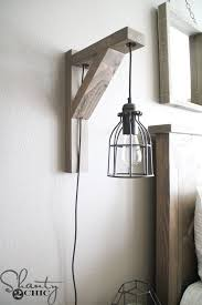 rustic wall sconce lighting diy corbel sconce light for 25 shanty 2 chic