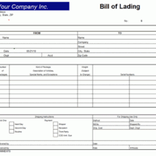 Bill Of Lading Template Excel Shipment Bill Of Lading Template Archives Excel Templates