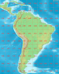 South America Map With Countries by File La2 South America Utm Zones Png Wikimedia Commons