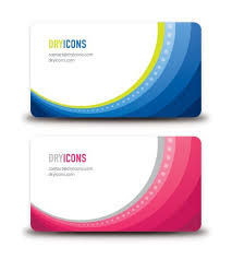 business card frame round frame waves business card vector