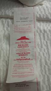 pizza hut help desk phone number receipt from pizza hut provided by them picture of pizza hut troy