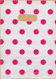 100 polka dot plastic shopping gift bags 7x10 p86 discount gift